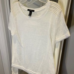 Lightweight top with crochet detail